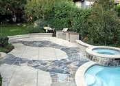 Stamped, Stone Concrete Pool Decks Tom Ralston Concrete Santa Cruz, CA