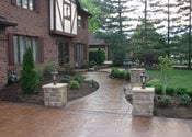 Pillars, Lights, Walkway Site J&H Decorative Concrete LLC Uniontown, OH