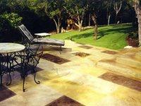 Concrete Patios Jagger Scored Stained Concrete, Inc. Austin, TX