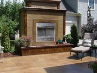Vertical Stamping Cornerstone Concrete Designs Orrville, OH