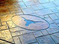 Stamped Concrete, Longhorn Detail Site Concrete Miracles LLC Buda, TX