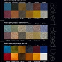 Concrete Dye, Color Chart Site Decorative Concrete Institute Temple, GA