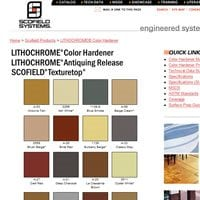 Lithochrome Color Hardener Chart Site ConcreteNetwork.com ,
