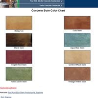 Stain Color Chart ConcreteNetwork.com ,
