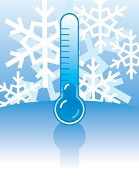 Site cartoon-thermometer Cold Weather Concrete