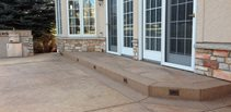 Brown Stamped Concrete Patio Concrete Patios Diehl Concrete Sedalia, CO