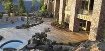 Gold, Adobe Concrete Patios Narrows Construction Gig Harbor, WA