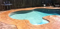 Bull Nose Coping, Textured Concrete Concrete Pool Decks King Concrete Ottawa, ON