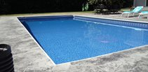 Gray Stamped Pool Deck Concrete Pool Decks Northern Concrete Denmark, WI