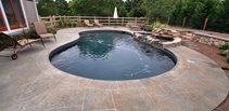 Kidney, Grey Concrete Pool Decks New England Hardscapes Inc Acton, MA