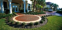 Brick, Boardered Concrete Walkways Superstone Inc Opa-Locka, FL