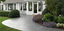 Stamped Front Walkway Concrete Walkways Creative Construction LLC Brookfield, CT
