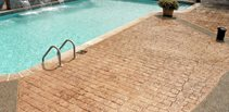 Brick, Fountain Stamped Concrete Custom DesignCrete, Inc Crescent, PA