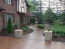 Pillars, Lights, Walkway Commercial Floors J&H Decorative Concrete LLC Uniontown, OH