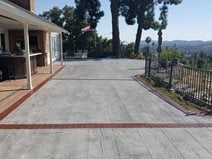 Timber Stamp, Faux Wood Patio Commercial Floors Envision Concrete Escondido, CA