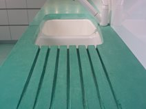 Aqua, Drainboard Concrete Countertops Art and Maison Inc. Miami, FL