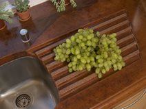 Brown, Drain Concrete Countertops Absolute ConcreteWorks Port Townsend, WA
