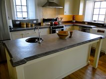 Concrete Island Countertop Concrete Countertops Tellus 360 Design & Build Lancaster, PA