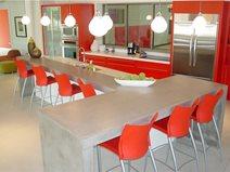Gray, Island Counter Concrete Countertops Hard Topix Jenison, MI