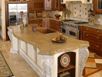 Victorian Curved Concrete Countertops Stone Pion Salt Lake City Ut