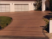 concrete driveways davis colors los angeles ca - Concrete Driveway Design Ideas