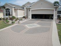 Decorative Concrete Driveway, Stencil Template Concrete Driveways Custom Ram Design Ocala, FL