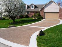 Pea Gravel, Exposed Aggregate Concrete Driveways Concrete Tailors, LLC Noblesville, IN