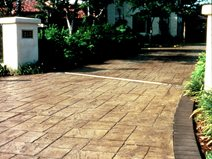 Sand, Square Stone Concrete Driveways Davis Colors Los Angeles, CA