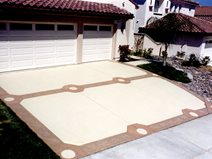 Spanish, Circles Concrete Driveways Concrete Solutions Products by Rhino Linings San Diego, CA