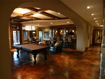 Brown, Pool Table Concrete Floor Overlay Concrete Arts Hudson, WI