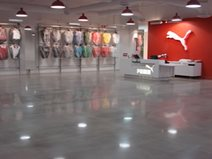 High Gloss, Gray Concrete Floors Rockerz, Inc Warrendale, PA