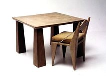 Brown, Table And Chair Concrete Furniture Kaldari Santa Ana, CA