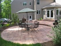 round patio layout