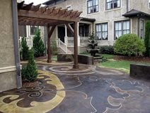 Concrete Patios Concrete Mystique Engraving Antioch, TN