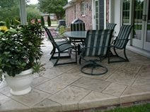 Concrete Patio, Stone, Tan Concrete Patios Aupperle Construction Morton, IL