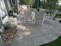 Beautiful Curved, Flagstone Concrete Patios New England Hardscapes Inc Acton, MA