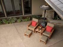 colored concrete patio