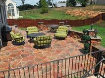 Residential Stamped Concrete Patio Concrete Patios Salzano Custom Concrete Aldie, VA