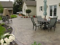 curved patio layout