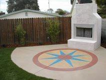 White, Geometric Concrete Patios California Concrete Designs Anaheim, CA
