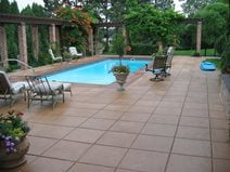 Brown, Squares Concrete Pool Decks Decorative Coatings and Concrete Company Aurora, CO