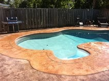 Pool Decking Ideas Concrete concrete pool decks are very durable and beautiful we provide free estimates and accept all major credit cards and cover all of new hampshire nh Bull Nose Coping Textured Concrete Concrete Pool Decks King Concrete Ottawa On