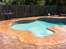 Concrete Pool Ideas concrete pool deck ideas natural flagstone decking pavers available in many colors and patterns Bull Nose Coping Textured Concrete Concrete Pool Decks King Concrete Ottawa On