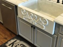 Concrete Sink, Sink Apron, Scrollwork Concrete Sinks Price Concrete Studio Orlando, FL
