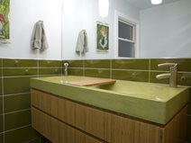 Green Concrete Bathroom Sink Concrete Sinks Reaching Quiet Charlotte, NC