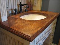Vanity, Mottled Concrete Sinks Trueform Concrete Wharton, NJ