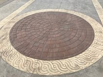 Bomanite Of Southeast Asia, Stamped Concrete, Circle, Oasiz Hotel Concrete Walkways Bomanite of Southeast Asia ,