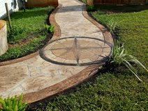 Slate Stamped Patio