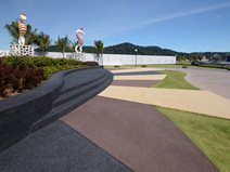 Queensbay, Sculpture Garden, Colored Concrete Concrete Walkways Bomanite Malaysia ,