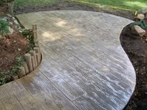 Faux Bois Patio Wood Stamped Concrete Creations Plymouth In